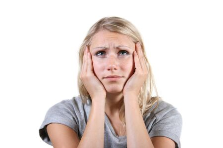 despondency: desperate woman