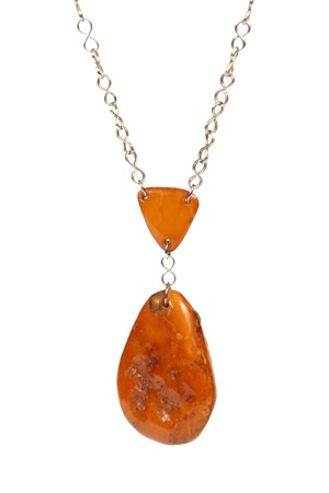 amber: Amber necklace Stock Photo