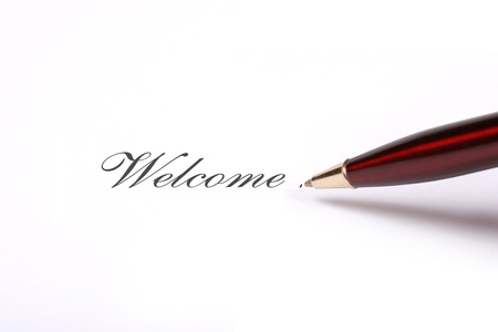 Welcome note Stock Photo - 11351353