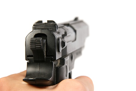 Hand with gun Stock Photo - 11359511