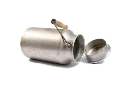 old container: old milk can