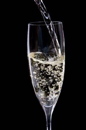 sektglas: Glas Champagner Lizenzfreie Bilder