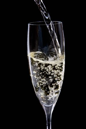 glass of champagne photo