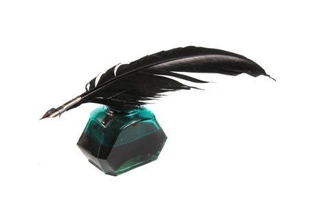 Inkwell and quill Stock Photo - 11351346