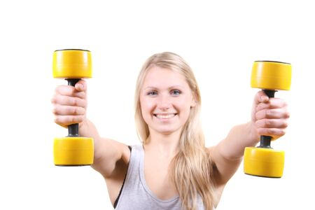 woman with dumbbells Stock Photo - 11351418