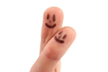 Smiley on fingertips photo