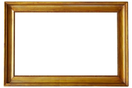 rectangular: golden picture frame