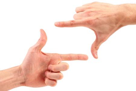 two visions: finger frame