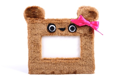 brown fluffy photo frame photo