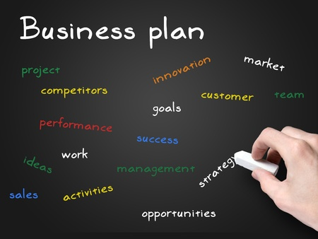 business plan sulla lavagna photo