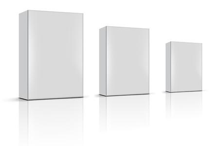 produits céréaliers: trois boîtes de produits vierges Banque d'images