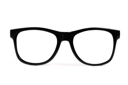black frame glasses isolated on white background Stock Photo - 13892543