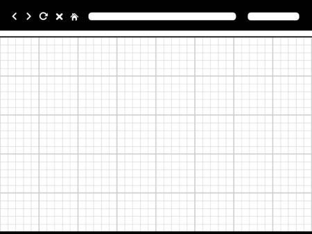 web browser: browser template