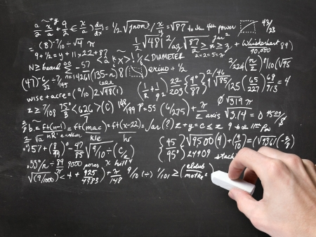 simbolos matematicos: matem�ticas en la pizarra