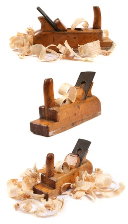 three old wooden carpenter photo