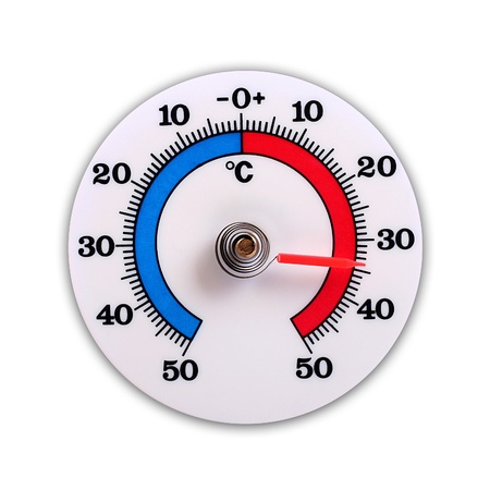 swelter: weather thermometer isolated on white background