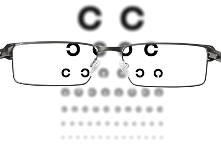 eyeglass frame: eyesight test