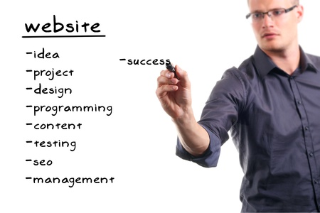 website development project Stock Photo