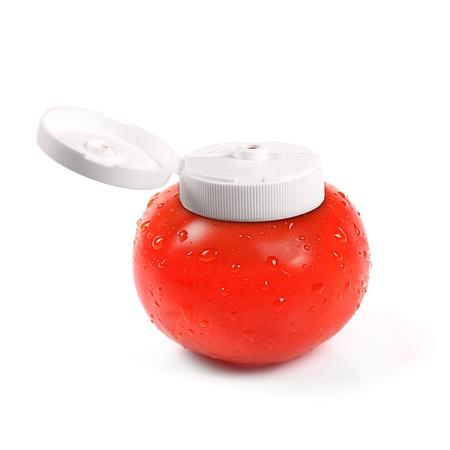 natürlichen Tomatenketchup Behälter