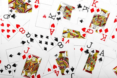 card game: playing cards background