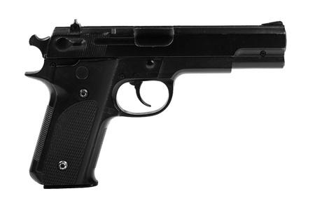 magnum: pistolet isol� sur fond blanc