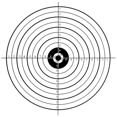 target practice: shooting target Stock Photo