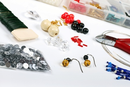 nippers: beading workshop Stock Photo
