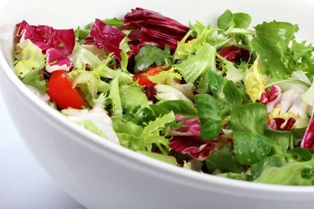 fresh salad in a bowl photo