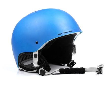 protective helmets: blue helmet isolated on white