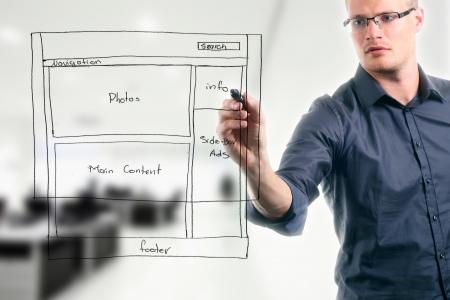 website: Website-Entwicklung wireframe