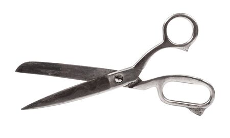 metal scissors isolated on white  photo