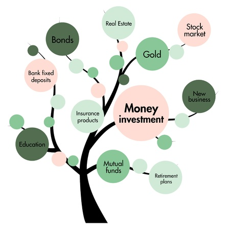 investor: money investment concept tree Stock Photo