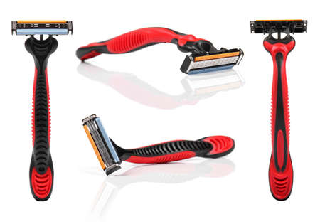 shaver: shaving razor isolated on white background
