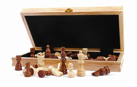 box with chess pieces photo