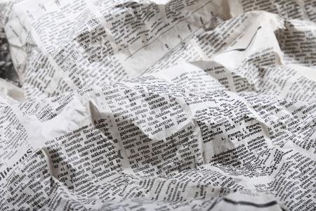 creasy: background of old crumpled newspaper