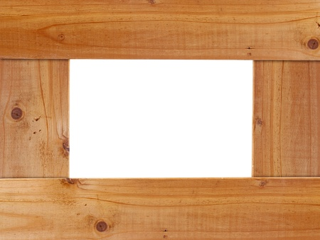 blank wooden frame photo