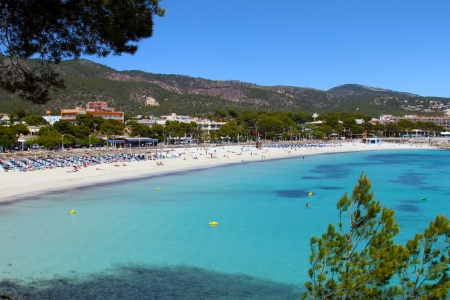 majorca: beautiful palma nova beach in mallorca balearic islands Stock Photo