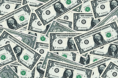 one dollar bill: money background - american dollars  Stock Photo