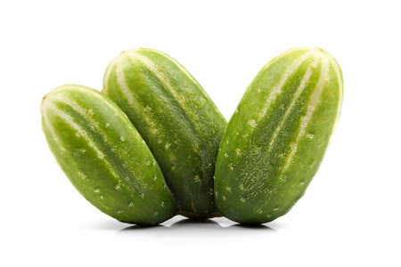 three cucumber mutant isolated on white photo