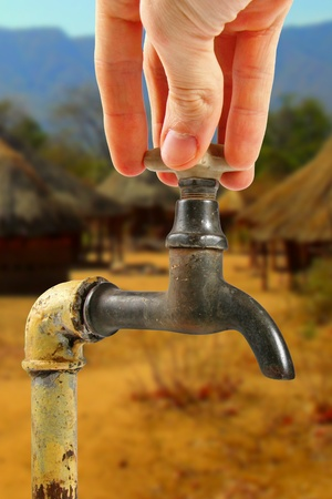 water tap in africa village photo