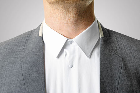 closeup of businessman suit photo
