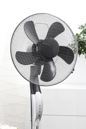 ventilator: air fan standing in the room