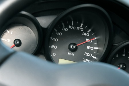 dashboard of car going fast. high speed concept Reklamní fotografie