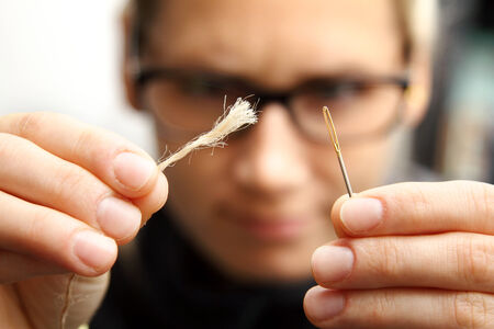 targeted: concept of persistence - needle and thread