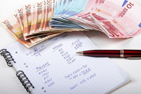 bank records: shadow economy concept