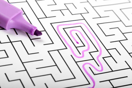 difficult to find: trying to find way out of maze