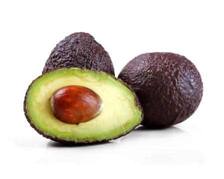 avocado isolated on white 스톡 콘텐츠