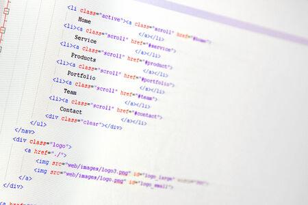 website ontwikkeling - programmeren van de code op het computerscherm