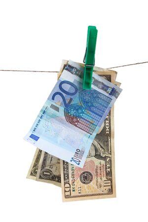 money laundering: money laundering concept. isolated on white background