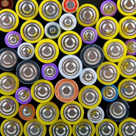hazardous: heap with batteries